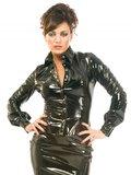Zwarte lak blouse_