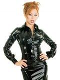 Zwarte lak blouse