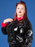 Plus size zwart rode blouse