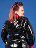 Plus size zwart met rood lak blouse_