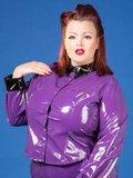 Paarse lak blouse