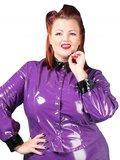 Plus size paarse lak blouse