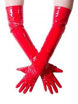Rode lak handschoen