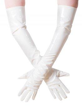 Witte lak handschoen