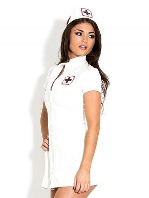 Wit lak verpleegster jurkje