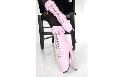 Roze lak ballet laarsjes