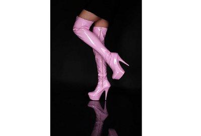 Roze lak laars met plateau