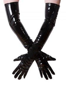 Zwarte lak handschoen