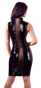 Lak jurk met rijg vetersluiting