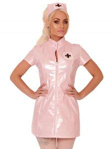 Roze lak verpleegster jurkje