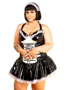Plus size dienstmeisje lak jurk