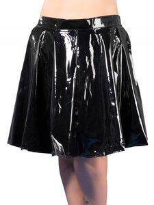 Plus size plisse rok van lak